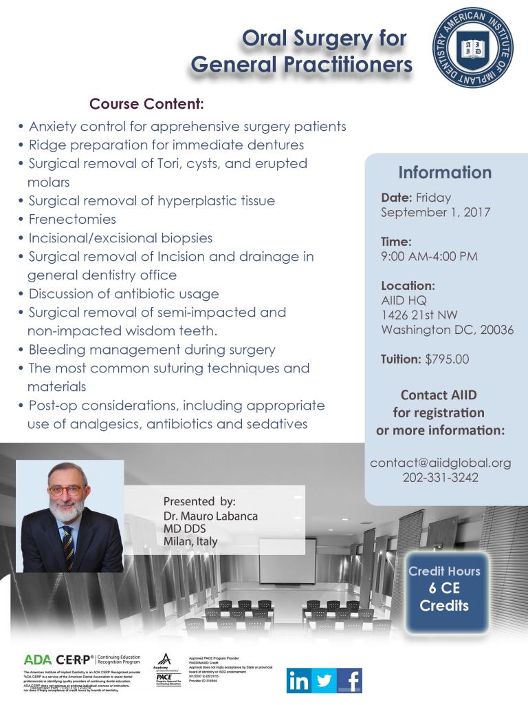 curs chirurgie orala medici dentisti stomatologi