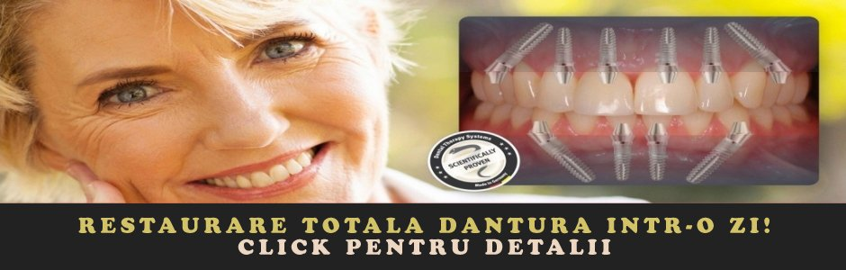 Implant dentar fast & fixed pret ieftin rapid intr-o zi